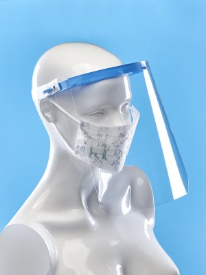 Face shield with band