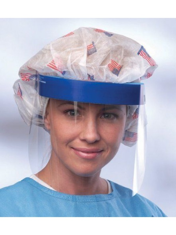 Elastic protective face shield